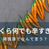 「いくらなんでも辛すぎる」を韓国語で言うと?